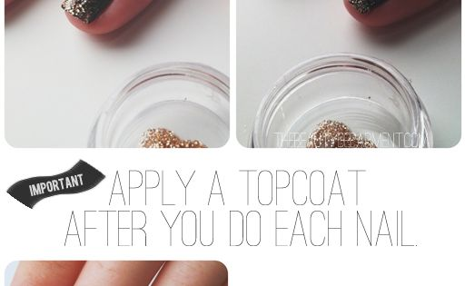 Nail Tutorial: How to get a good glitter fade. Ive always wondered
