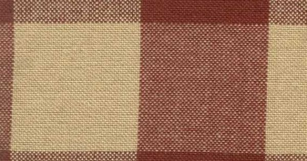 Tea Dyed Red Buffalo Check Homespun Fabric By