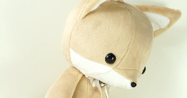 Cute Bellzi Stuffed Animal Brown w/ White by BellziPlushie on Etsy, $35.00