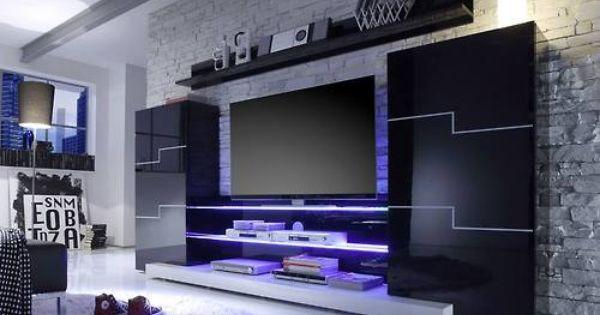 beleuchtetes fernsehregal coole m bel pinterest tv units wood walls and tvs. Black Bedroom Furniture Sets. Home Design Ideas
