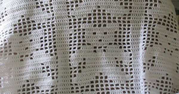 Free Teddy Bear Filet Crochet Afghan Pattern : Teddy Bear Blanket Filet crochet Charts: Animals ...