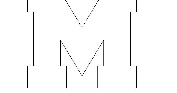 block letter m free printable block letter stencils stencil letters m 20637 | aaa33deaf76dea751663a67008b1ae3f