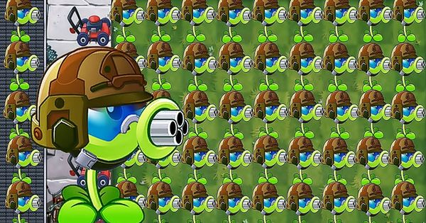 Plants Vs Zombies 2 Mod Chinese Gatling Pea Pvz2 Vs All Freakin Zombo Plants Vs Zombies Zombie 2 Plants