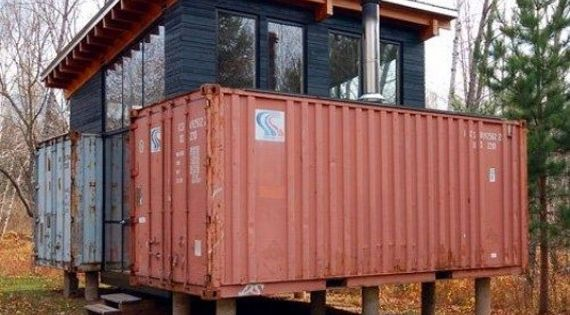Shipping container cabin gadgets pinterest - Arquitectura contenedores maritimos ...