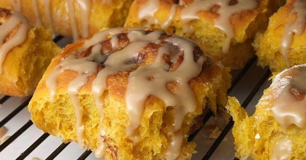 Pumpkin cinnamon rolls, Amish and Cinnamon rolls on Pinterest