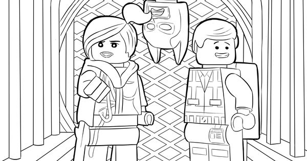 The lego movie coloring page lego wyldstyle emmet for Wyldstyle coloring pages