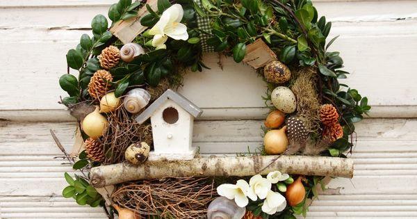 t rkranz fr hling osterkranz dekoration ostern t rdeko fr hlingskranz osterdeko basteln. Black Bedroom Furniture Sets. Home Design Ideas