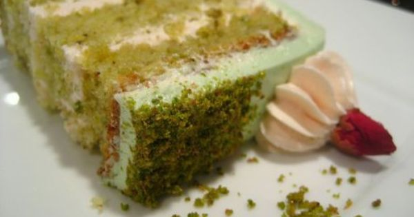 Goodnight Rose: Pistachio-Cardamom Cake with Rosewater Frosting ...