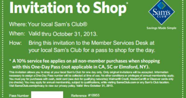 Free One Day Pass At Sam S Club Sams Club Sam S Club Club