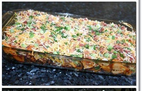 Loaded Potato And Buffalo Chicken Casserole Recipe | Loaded Potato ...