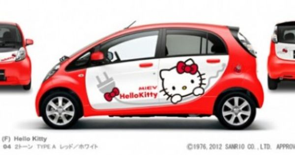 mitsubishi my i miev design wrapping introduces six fun new designs hello kitty car hello kitty hello kitty bedroom pinterest