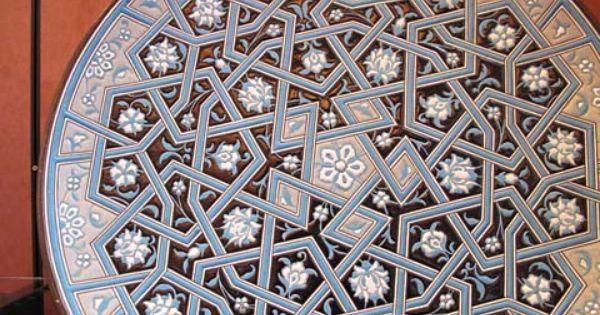 Islamic Plate イスラムアート モザイク