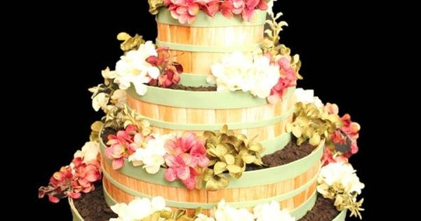bushel basket wedding cake stacked bushel basket flower pot wedding cake wedding 12262