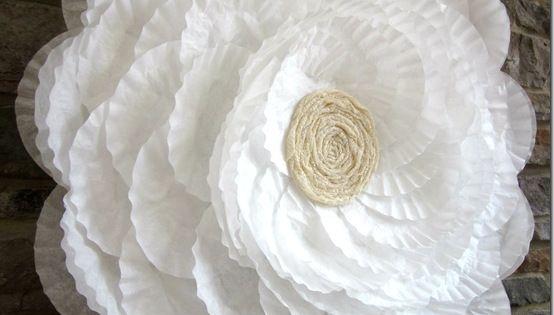 Huge coffe filter flower tutorial Summer 2012 007