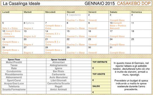 Calendario casakebo dop per programmare e pianificare - Spese familiari ...