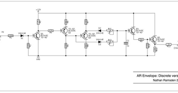 Envelope Circuits: a simple discrete AR design | Circuit ... on gps schematic, ups schematic, lcd schematic, usb schematic, schmitt trigger schematic,