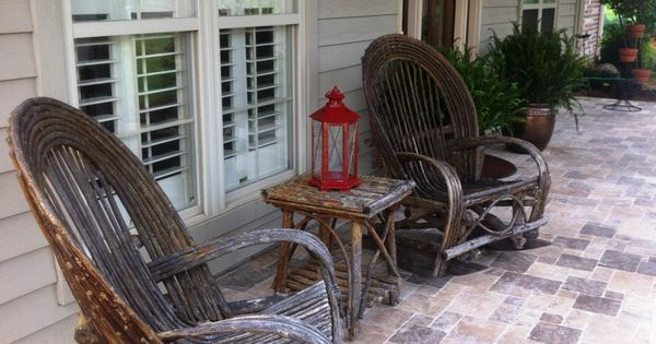And Now I Have The Bent Willow Furniture Branches Pinterest Twig Furniture Patios And