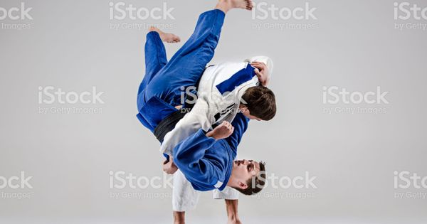 Two Judokas Fighters Fighting Men Royalty Free Judo Stock Photo In 2020