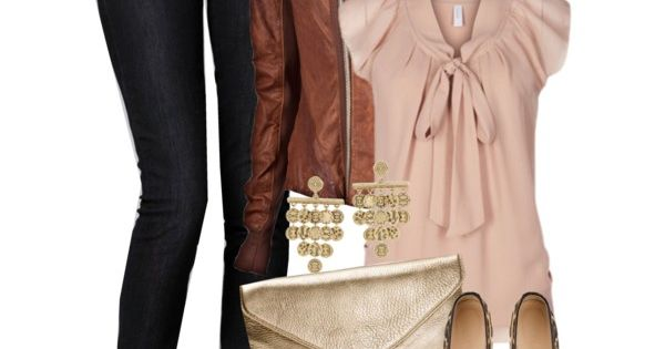 outfits | Casual Outfits 2012 | Chiffon Top | blush/nude blouse, black
