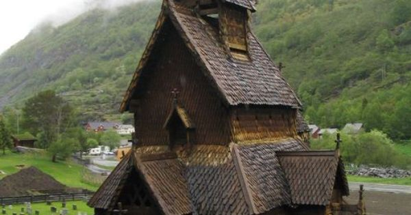 900 year old church in Norway - Borgund Church. (looks like the