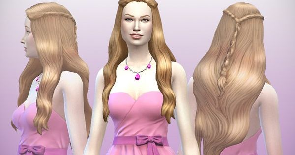 Delco Webney Telltales Game of Thrones hairstyle for Sims