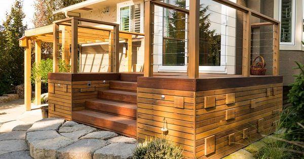 iron woods ipe hardwood deck cable rail designed and. Black Bedroom Furniture Sets. Home Design Ideas