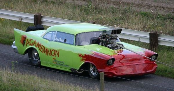 Chevy Muscle Cars >> 'Agamemnon' 57 Chevy Pro Mod   Drag Racing ~ Doorslammers!***   Pinterest