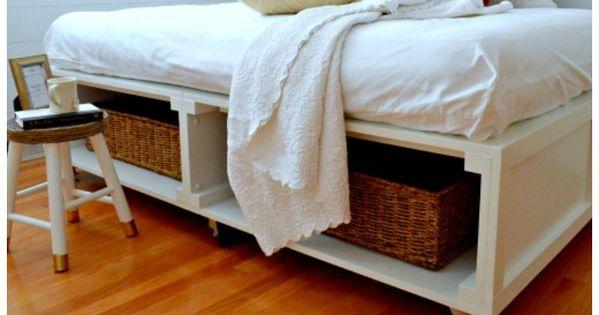 diy platform bed with storage platform beds wheels and storage. Black Bedroom Furniture Sets. Home Design Ideas