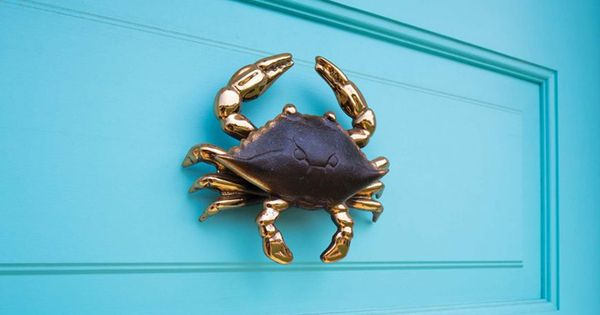 Crab door knocker gmt home designs love this look for Gmt home designs