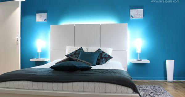 Chambre moderne bleu chambre coucher design chambre for Chambre a coucher facebook