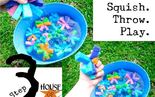 water toys made out of sponges