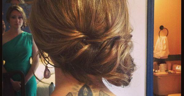 Wedding Hairstyle By Cristela Muniz. Simple Side Swept