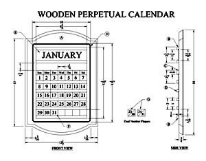 How To Make A Wooden Perpetual Calendar Free Woodworking Plans