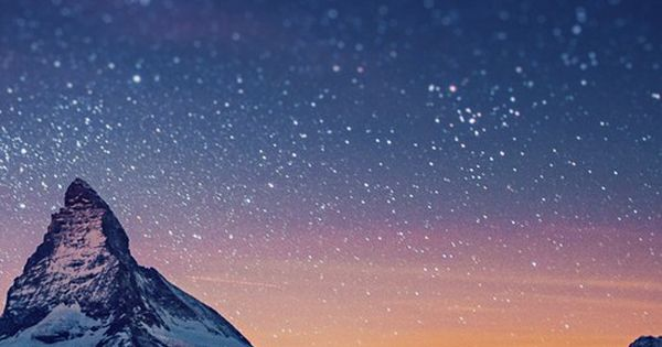 REPIN. Starry Mountains over Mount Matterhorn, Swiss Alps.