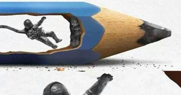 Pencil lead carving d and sculpture pinterest