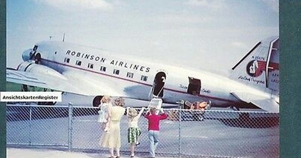 1 Of 3 Robinson Airlines Dc 3 That Merged With Mohawk Airlines In 1953 Vintage Aircraft Airlines Aircraft