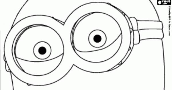 Minion Eyes With The Glasses Coloring Page Coloring Pages