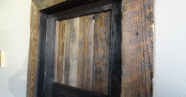 Transform Your Door Frame Into A Rustic Barnwood Theme