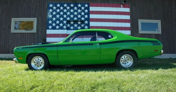 plymouth duster 2 dr excellent 1971 plymouth duster restomod sassy grass green 360 magnum mopar. Black Bedroom Furniture Sets. Home Design Ideas