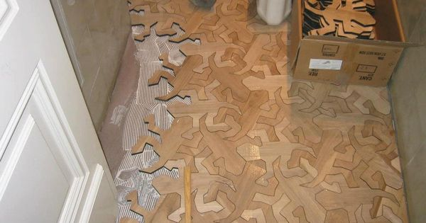 Reptile Pattern Wood Floor Inspired by MC Escher | Inthralld The awe