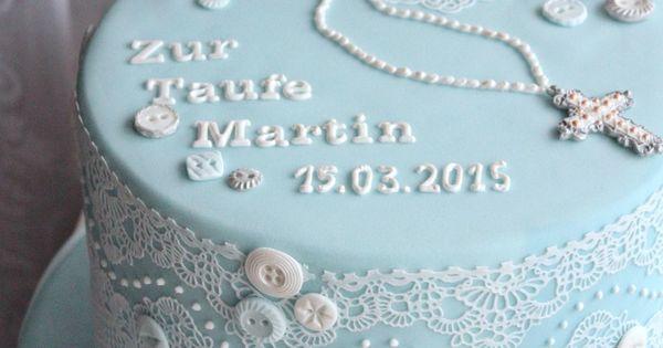 Torten zur taufe julia b rwald fondant torten for Pinterest taufe