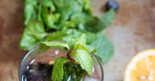 Bourbon, Blueberries and Red kitchen on Pinterest