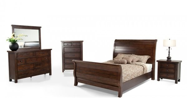 Hudson 8 Piece King Sleigh Bedroom Set Bedroom Sets