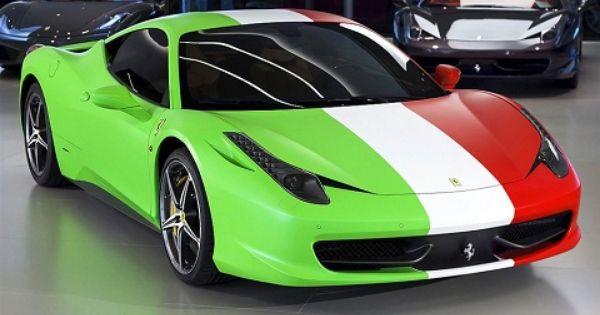 Italy Cars: How Much Do You Love Italy? Italian Wrapped Ferrari 458