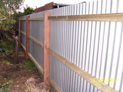 Fences Made With Tin Outdoors Corrugated Metal Fence Painted