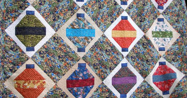 Quilt Guild Project Ideas : Chinese Lanterns.Raffle quilt for guild. Things I make. Pinterest Class projects and ...
