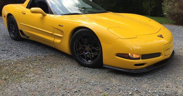 Corvette Creationz Carbon Front Lip Corvette Yellow Car Chevrolet Corvette