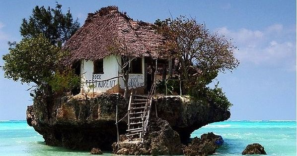 East Coast of Zanzibar. Its called Rock Restaurant cause it is one.