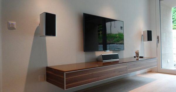 Nett Lowboard Wandmontage Lowboard Fernsehzimmer Wand