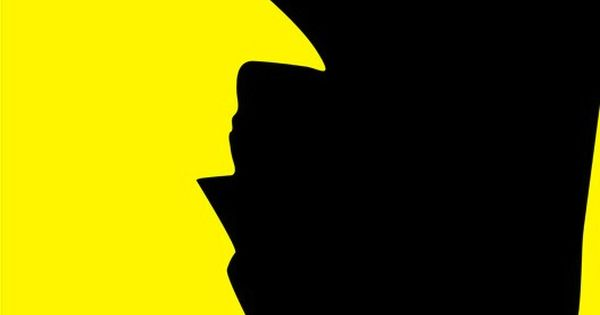 batman and penguin poster (Negative Space)